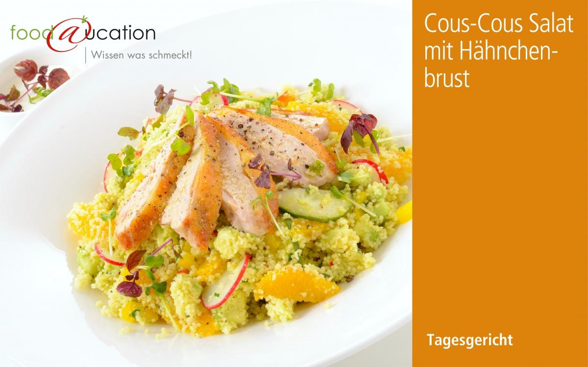 Cous-Cous Salat mit Hähnchenbrust